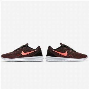 Nike   Nike Free RN Black/Lava Glow